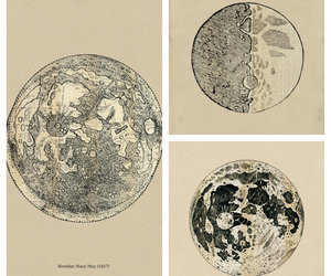 astronomy, drawings, and moon image