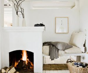 fire, white, and bed image
