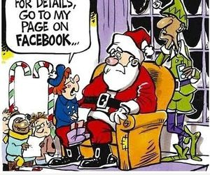 santa, christmas, and facebook image