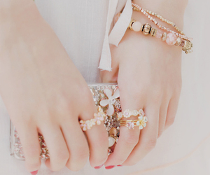 accessories, bracelet, and rings image