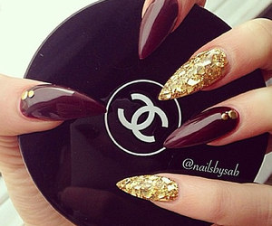 nails and stiletto nails image