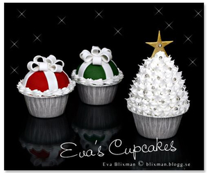 christmas, cupcakes, and gifts image