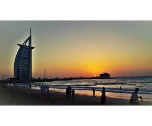 beach, Dubai, and ocean image