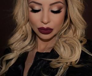 burgundy, cranberry, and eyeliner image