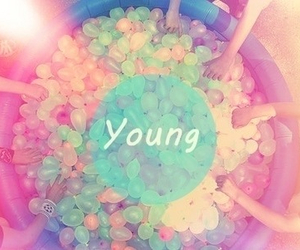 young, balloons, and summer image