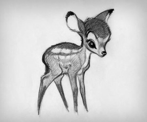 art, bambi, and draw image