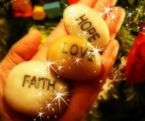 christmas, hand, and love image