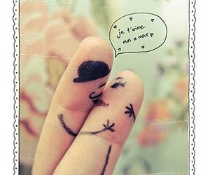 love, fingers, and kiss image