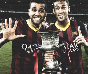 neymar, Barcelona, and dani alves image