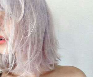 girl, pastel, and hair image