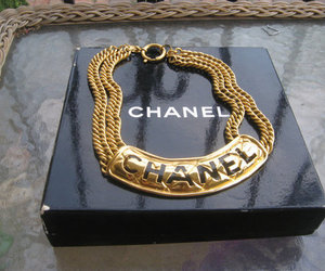 chanel, fashion, and gold image
