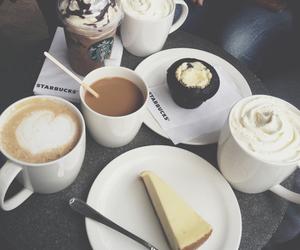 cake, starbucks, and coffee image