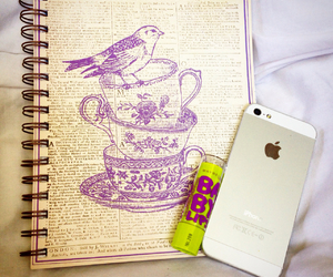 apple, books, and girly things image