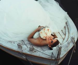 beautiful, wedding, and white dress image