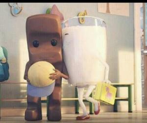 milk schoko cute kiss image