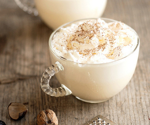 food, cream, and drink image