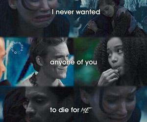 rue, finnick odair, and the hunger games image