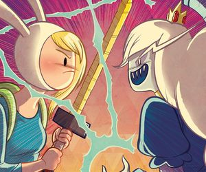 adventure time, ice queen, and fionna the human image