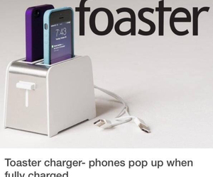 iphone, charger, and toaster image