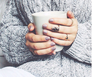 winter, sweater, and nails image
