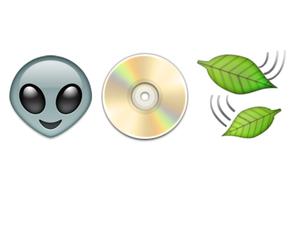 alien, cd, and leaves image