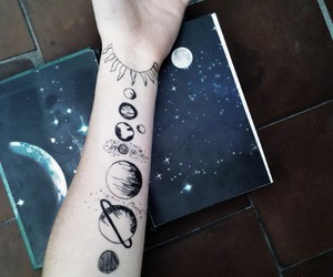 tattoo, planet, and grunge image