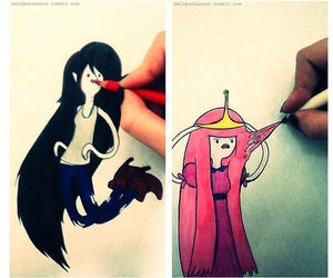 adventure time, JAKe, and princess bubblegum image