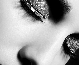 eyes, beauty, and black and white image