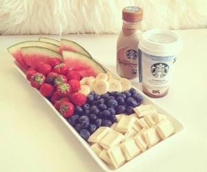 starbucks, fruit, and food image