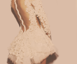 dress, white, and lace image