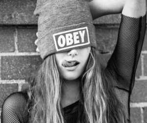 obey, girl, and swag image