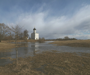 church, russia, and water image
