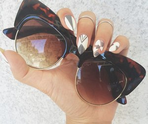 nails, sunglasses, and rings image