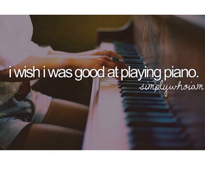 I WISH, piano, and music image