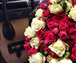 celine, flowers, and rose image