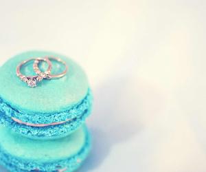 wedding ring and macaron image