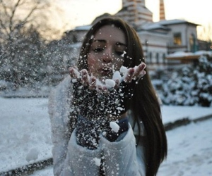 snow, winter, and girl image