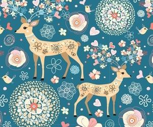 wallpaper, deer, and background image