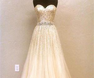 dress, formal, and gold image