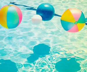 summer, pool, and beach image