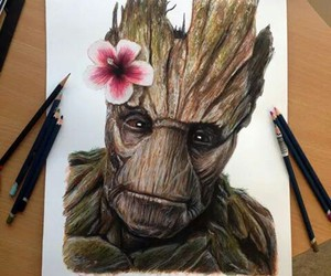 drawing, groot, and art image