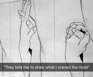 drawing, hands, and true image