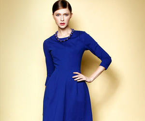 blue dress, dress, and party dress image