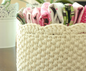 basket, crochet, and white image
