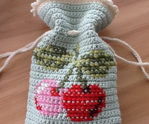 berries, crochet, and pouch image