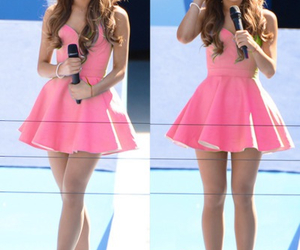 ariana grande, pink, and dress image