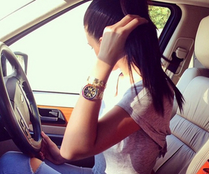 car, girl, and style image