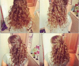 curl, romantic, and curls image