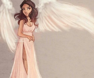 selena gomez, angel, and drawing image