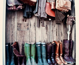boots, bag, and vintage image